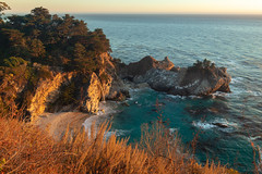 McWay Falls (jasonhawkins) Tags: bigsur california mcwayfalls ocean sunset pacific waterfall