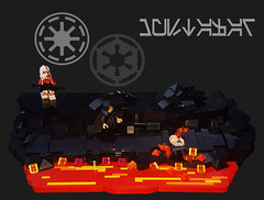 MUSTAFAR_1 (CreativBricks) Tags: legostarwars lego legostarwarsiii moclegostarwars mustafar sith anakin starwars moccreation creation creativbricks