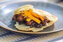 Grilled Steak Arepa (joshbousel) Tags: arepa arepawithsteakblackbeansandcheese beef cheddarcheese cheese cuisine eat food latinamerican meat skirtsteak steak venezuelan