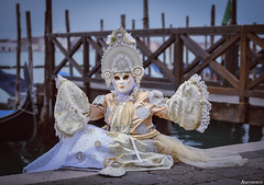 Venice Carnival. (_Anathemus_) Tags: venice carnival carnevale italy portrait nikon d750 mask costume italia gondola