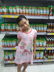 greetings from the supermarket :) (ghostgirl_Annver) Tags: asia asian girl annver teen preteen child kid daughter sister family portrait supermarket groceries
