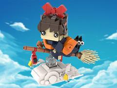 Kiki's Delivery Service - BrickHeadz MOC (headzsets) Tags: lego legos photography brickheadz brickheads brick heads kikis delivery service kiki jij broom anime manga otaku funko pop toy collection minifigure hayao miyazaki studio ghibli moc mocs