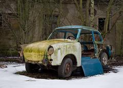 Go Trabbi, go! (david_drei) Tags: nebelscheinwerfer lostplace abandoned decay car trabbi trabant p50