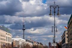 Unter den Linden, Berlin (Jutta Achrainer) Tags: achrainerjutta berlin fe24105mmf4goss sonyalpha7riii pariserplatz unterdenlinden fernsehturm wolken