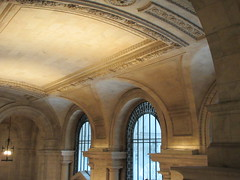 New York Public Library Entrance Hall Lobby 3614 (Brechtbug) Tags: new york public library entrance hall lobby 5th ave facade city interior stairs staircase stone marble 2019 nyc 03122019 art architecture designed by artist sculptor paul wayland bartlett carved the piccirilli brothers was two lions main branch stephen a schwarzman building consolidation astor lenox libraries beaux arts design style