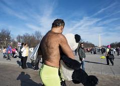 Washington DC (Blinkofanaye) Tags: washingtondc national mall street people panda bear man underwar stuffed animal mental illness sky