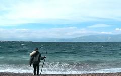 A Weekend By The Sea :Neptune's Dauughter (Storyteller.....) Tags: sea beach girl neptune blue waves sky horizon