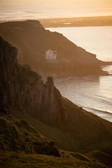 THE OLD BOATHOUSE (RHIAN MAI) Tags: rhosilli coast wales old boathouse oldboathouse sea water coastline cliffs sunset seascape landscape portrait oudoors land colour warm