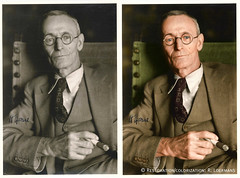 Hermann Hesse (R.Loermans) Tags: colorization coloring recoloring vintage vintagephoto restoration restored hermannhesse writer colour coloured poet colouring color swiss steppenwolf siddhartha oldphoto