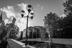DSC01540 (Damir Govorcin Photography) Tags: darling harbour sydney blackwhite monochrome sony a7rii zeiss 1635mm people flags building architecture sky clouds