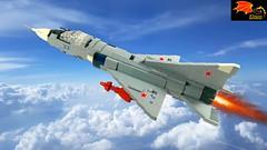Mig-23PD Prototype STOVL (Eínon) Tags: lego mikoyangurevich khachaturov r27300 stovl fighter cold war cccp urss soviet union mig23pd podyomnye dvigateli