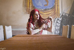 Ariel (aliasmarteena) Tags: disney princess castle fairytail dress ballgown ariel mermaid dressmaker