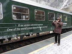 At Kjosfossen on the Flåm Line