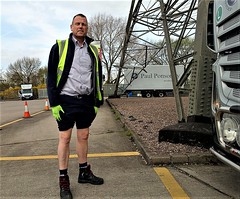 Don't ask, just don't ask... (soxer123) Tags: lorry driver trucker shorts