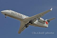 BRB_6728cesn c (b.r.ball) Tags: brball yyz torontopearsoninternationalairport aviation cgxja bombardier cl6002b19 aircanadaexpress ac7265 runway24r