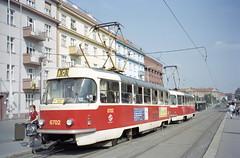 2002-09-03 Praha Tramway Nr.6702 (beranekp) Tags: czech praha prague prag tramway tram tramvaj tranvia strassenbahn šalina elektrika električka tatra t3 6702