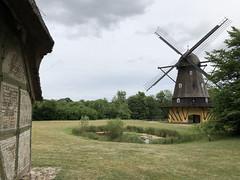 Traditional Windmill in Denmark (` Toshio ') Tags: toshio denmark windmill scandinavia europe european europeanunion frilandmuseet lingby farm traditionalwindmill countryside iphone lake