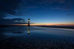 New Brighton Lighthouse (colin@thecranes.co.za) Tags: unitedkingdom refelction 2017 newbrightonlighthouse sunset liverpool lighthouse