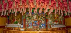 Interior Of The Buddhist Temple (Seoraksan, South Korea. Gustavo Thomas © 2018) (Gustavo Thomas) Tags: interior buddhist temple painting religious buddha buda templo colour seoraksan southkorea corea asia