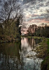 Aylestone Leicester 9th January 2019 (loose_grip_99) Tags: leicester leicestershire eastmidlands england uk nature aylestone river canal water trees sunset january 2019