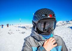 Girl on ski resort