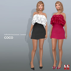 COCO New Release @my store (cocoro Lemon) Tags: coco newrelease ruffle dress secondlife fashion mesh maitreya slink belleza