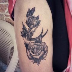 Rose tattoo Tattoo by Bhavesh Kalma, Ahmedabad. Dm or call 8734029613. . . . . . . . . . . . . . . . #rose #rosetattoo #rosetattoos  #birdtattoos #birds #birdtattoo  #blackandgreytattoos #bngtattoo #oldschooltattoo #tattooflash  #ahmedabad #chandkheda #gu (bhaveshkalma1) Tags: ahmedabad blackandgreytattoos birds oldschooltattoo rosetattoo chandkheda gujarati birdtattoos gujrat rosetattoos bngtattoo gujju tattooflash rose birdtattoo sabarmati