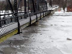 Bridge Street Bridge (joeldinda) Tags: weather snow grandriver winter michigan ioniacounty portland ice omd em1ii em1 bridge 4464 february omdem1mkii olympus 2019 47365