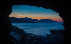 La cueva de Islandia (Iñigo Escalante) Tags: cueva gruta islandia mar seascape cantabrico cantabria castro urdiales atardecer night noche azul montañas oceano dawn sunset cove bizkaia vizcaya euskadi