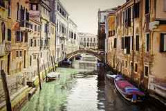 (Artypixall) Tags: italy venice boats canal bridge buildings facades architecture urbanscene
