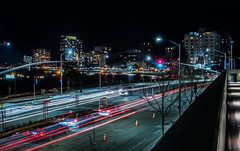 harrison street balcony (pbo31) Tags: oakland california nikon d810 color night dark black city urban march 2019 boury pbo31 lakemerritt skyline lightstream roadway over harrison motion light blur eastbay alamedacounty lakewide