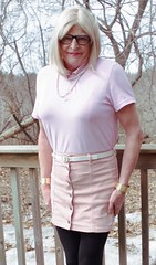 Pink lady on the deck - 1 (donnacd) Tags: legs sissy tgirl tgurl slut dressing crossdress crossdresser cd travesti transgenre xdresser crossdressing feminization tranny tv ts feminized jumpsuit domina blouse satin lingerie touchy feely he she look 易装癖 シー