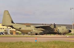 ZH871 Royal Air Force Lockheed Martin Hercules C4 with a new black radome . (Bob Symes) Tags: raf hercules herculesc4 c130 c130j lockheed bzz brizenorton 5446 turboprop militarytransportaircraft zh871 rafbrizenorton