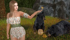 The call of nature (Rose Sternberg) Tags: liz shape for genus bento project baby face head maitreya lara body second life event hairstyle april 2019 hair style fashion doux andore safira fleur dress spring flair wedges valley cute babyrose owl necklace earring