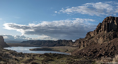 The Setting of Dusty Lake (Mark Griffith) Tags: ancientlakes annual backpacking camping desert dustylake easternwashington overnighter quincy sonyrx100va traditions washington 20190329dsc01720pano