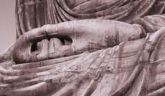 Say a prayer for me, please. (lebre.jaime) Tags: japan 日本 kamakura 鎌倉市 statue buddha greatbuddha 大仏 mudra 印相 hasselblad 503cx planar cf2880 kodak film 120 film120 mediumformat mf monochrome ektachrome 200iso epd epson v600 affinityphoto