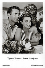 Tyrone Power and Linda Christian (Truus, Bob & Jan too!) Tags: tyronepower tyrone power american actor lindachristian linda christian hollywood filmstar mexican actress actrice film kino cinema cine picture screen movie movies filmster star vintage postcard carte postale cartolina tarjet postal postkarte postkaart briefkarte briefkaart ansichtskarte ansichtkaart kolibri kolibriverlag 20thcenturyfox