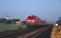 Egenstedt (Nils Wieske) Tags: niedersachsen harzvorland baureihe 218 v160 db regio bahn eisenbahn train railway railroad zug züge kirche