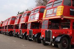 All Red (gooey_lewy) Tags: aec regent 3 iii rt 80 40 years barking garage running day meeting open london double decker bus transport old red 62 creekmouth becontree chadwell heath