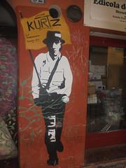 860 (en-ri) Tags: uomo man bianco giallo nero bandiera flag bologna wall muro graffiti writing