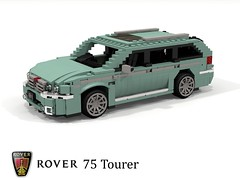 Rover 75 Tourer (lego911) Tags: rover 75 estate tourer 2000s 2001 fwd wagon luxury family auto car moc model miniland lego lego911 ldd render cad povray uk gb british afol foitsop
