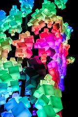 cube avalanche (pbo31) Tags: bayarea california nikon d810 color january 2019 boury pbo31 blue night dark sanfrancisco city art hayesvalley blocks cube sculpture light colorful