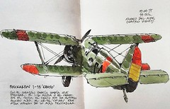 "Polikarpov I-15 ""Chato"" (Luis_Ruiz) Tags: polikarpov i15 chato aviación república urban sketchers soviet aircraft dibujo drawing sketch airplane ww2 fighter biplane"