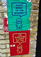 Algorithm, London, UK (Robby Virus) Tags: london england uk united kingdom unitedkingdom great britain gb greatbritain subdude street art artist paste pasted paper pasteup wheatpaste algorithm gonna get you press reset internet