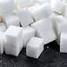 Sugar cubes closeup