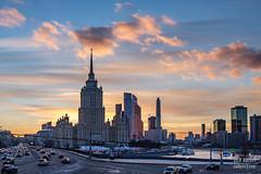 H18A6410 (Said Aminov) Tags: москва закат россия город moscow city sunset river bridge building march street sky ship