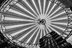 Sony Center (Berlin-Knipser) Tags: berlin berlinmitte deutschland germany potsdamerplatz artinbw blackandwhite bw blackwhite schwarzweis schwarzweiss sw sonya6300 sel1018 architektur