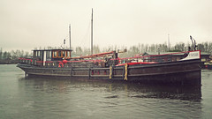 P1070271vf (hans hoeben) Tags: former steam vessel frisia undocking 1892 cow boat pannevis ss jonkheer meester schorer dutch barge panasonic lx3 lumix dmc north holland millingen aan de rijn triple expansion engine