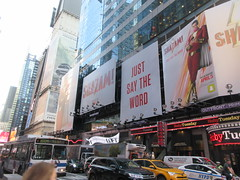 Shazam The Big Red Cheese Billboard 42nd St NYC 3769 (Brechtbug) Tags: shazam billboard 42nd street new captain marvel the big red cheese poster ad nyc 2019 times square movie billboards york city work working worker paint painting advertisement dc comic comics hero superhero alien dark knight bat adventure national periodicals publication book character near broadway shield s insignia blue forty second st fortysecond 03142019 lightning flight flying march