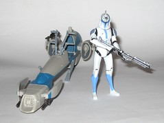 barc speeder bike with clone trooper jesse star wars the clone wars blue black packaging vehicle and figure 2010 hasbro b (tjparkside) Tags: barc speeder bike with clone trooper jesse star wars 2010 hasbro black blue packaging basic action figure figures vehicle vehicles clones troopers blaster blasters rifle rifles phase 1 i bikes speeders galactic battle game stand silver display base general grievous saleucami biker advanced recon commando commandos 501st white
